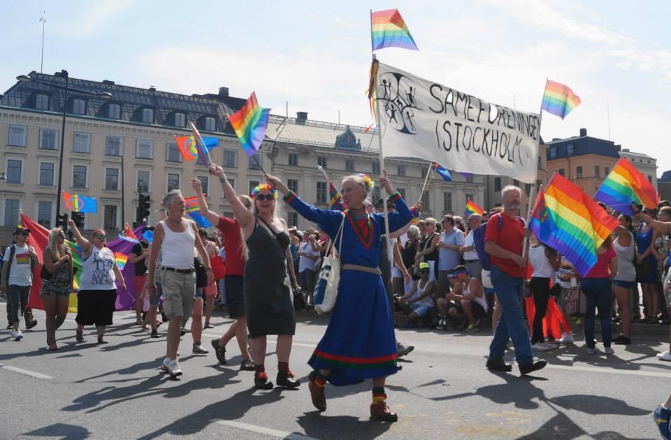 Sápmi i Stockholm Pride Parade