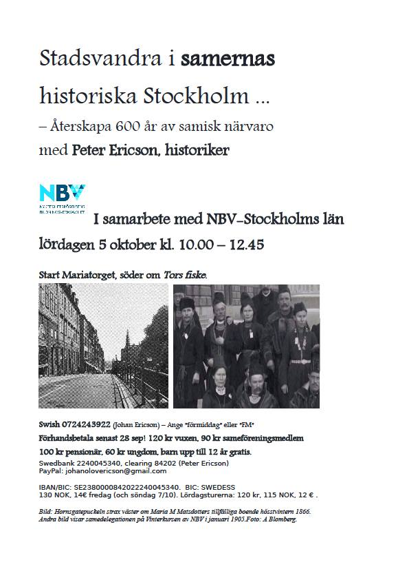 Samisk lördag i Stockholm - 6 oktober