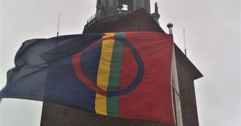 Flaggceremoni vid Stadshuset för Samiska Nationaldagen, 6 feb